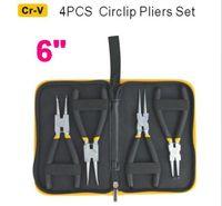"SunRed BESTIR made in taiwan NEW Cr-V steel 4pcs Heavy Duty 6"" Circlip Plier Snap Ring Plier Kit NO.96111 freeshipping"
