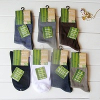 Freeshipping Bamboo fiber men's socks color mix 12pairs/lot M1448