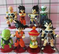 Free shipping complete set Dragon Ball Z figure  gukou toys Frieza Vegeta Action Figure toys Doll