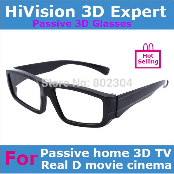 Passivi polarizzati circolari reale d occhiali 3d per la casa 3d tv o reale d sistema film theater+free spedizione via china post di posta aerea