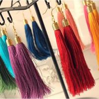 Free shopping momoko peach emoda murua vintage elegant tassel multicolor earrings drop earring 10/lot