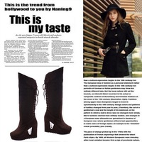 Free Shipping Hot Sell Women's Fashion Wedges Lace-up Knee Long Boots High Shoes KE068