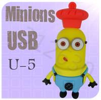 Hot sale U05 Minions 2 Despicable Me Cartoon U Disk 256MB 4GB 8GB 16GB 32GB 64GB USB 2.0 Flash Memory Stick USB Flash Drive