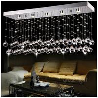 "L60cm / 23.6 ""high quality Rectangular crystal chandelier include LED Light Source"
