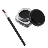 1set Makeup Cosmetic + Brush Black Waterproof Eye Eye Shadow Gel DropShipping