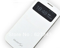 Free shipping  For Samsung Galaxy S4 S-View Slide Function Dormancy sleep function cover flip battery case Touch screen