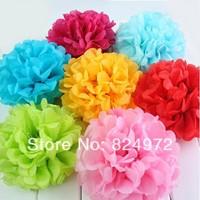 New Arrival Diy Pom Multicolour 6 Inch Paper Wedding Flowers Ball Wedding Decoration Flower 15pcs/Lot Free Shipping