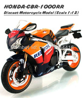 Free Shipping 1/12 Scale HONDA CBR 1000RR Repsol Motorcycle Diecast Metal Motorbike Model Gift Toys New In Box