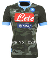 New 13/14 Napoli 3rd Jerseys Camo Football kit Soccer Unforms 2013-2014 Cheap Soccer Jersey  hot