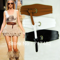 Magazines to recommend In 2010, Milan runway looks Ladies' Stretch Skin Wide Waist sealing The belt elastic wide belt