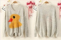 Women Sweater Duck  Collar polka Dot Womens ladies sweet Women sweater  Ladies sweater Female Sweaters