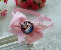 10 pcs baby Girl infant frozen Elsa Anna hair Bow Flower princess Headwear Headband Christmas gift  hair accessory