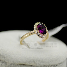 Wholesale 2013 Fashion Women Designer Brand Jewelry Elegant ruby crystal gold plated diamond ring Created Hot