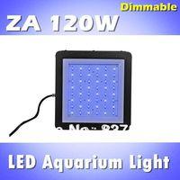 ZA 120W LED aquarium light, programble dimmable, timer, white: blue =1:1, sunrise sunset for saltwater reef (customizable)