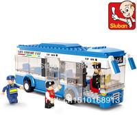 With original box  Educational Toys for children Sluban Building Blocks small bus  self-locking bricks Compatible with Lego