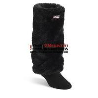 New fashion women men socks Long-haired fur rain boots socks winter rain shoes matching socks items only socks black size 35-44