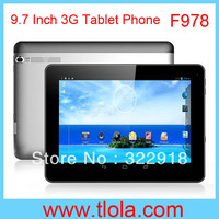 Free Shipping 9.7 inch Android Tablet PC 3G GPS WIFI Bluetooth with MTK8389 Quad Core CPU