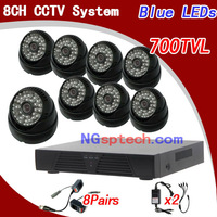 8CH H.264 Standalone Network CCTV DVR 4pcs CMOS  Outdoor IR Camera VIdeo System Kit,security dvr kit systemfree shipping!