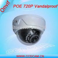 CCTV 720P IP Camera 1.0 Megapixel Low Lux  POE Dome IP Camera  EC-IP3124P