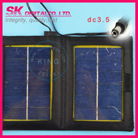 Solar Panel+Foldable Solar Charger For Laptops&Mobile Charger For iphone Samsung HTC DC3.5 output