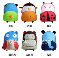 Children's cartoon tie rod bag and backpack child pull rod shoulders dual-use bag
