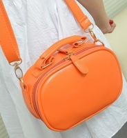 Candy Color PU shoulder bag for girls, mini Messenger Bag for ladies, size 20*14*7cm, 11 colors available