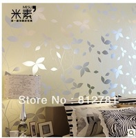 Living Room, Bedding Room papel de parede roll non-woven modern wallpaper flock printing wall paper tv background wallpaper