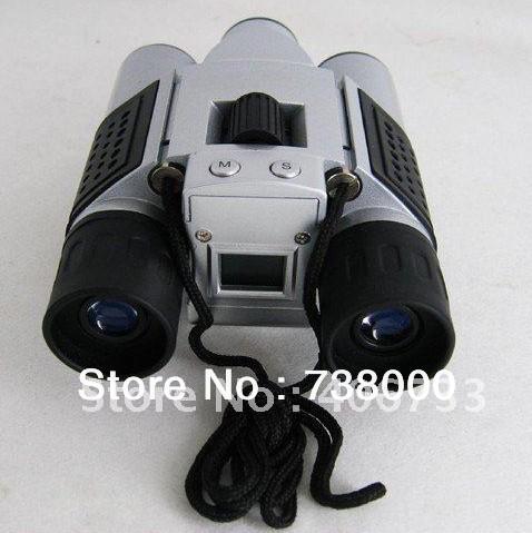 3Mp max Mini Digital Binocular Camera + PC webcam Camera + Digital Video,Video resolution 320*240 4in1 DC-T01(China (Mainland))