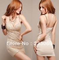 New summer women bling suspender brace skirt with shoulder-straps stretched mini dress,Free shopping