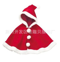 2014 Rushed Meninas Vestir Autumn And Winter Thick Coral Ceremonized Christmas Cloak Baby Clothing Outerwear Cape Children Shawl