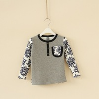 Children's clothing boy blue and white three buckle warm Bel Fleece sweater 11J1-1009