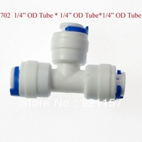 1/4 OD tube  1/4 OD Tube 1/4  OD Tube  3PCS Type T Quick Connect Aquarium RO Water Male BSP And Tube connection