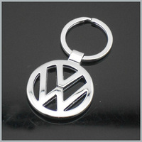 1 X  Car Alloy Chromed Auto Keychain Keyring Key Chain Badge Emblem For  Car With Gift Box Free Shipping