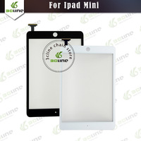 5pcs/lot Black/White free shipping 100% New for ipad mini replacement glass touch digitizer screen+Free adhensive