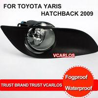 Free Gifts + Free Shipping Fog Lamp TOYOTA YARIS HATCHBACK 2009~ON Clear Lens PAIR SET +Wiring Kit