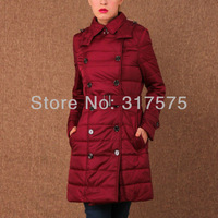 Free shipping  2013 new coat Thin big yards cotton-padded jacket ladies women's dress  button Adjustable Waist Polyester Pockets