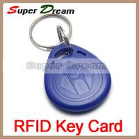 100pcs 125kHz RFID Proximity ID Token Tag Key Keyfobs key fob Tag IC Tag Token Key Ring IC Cards Re-writable Blue,Free shipping