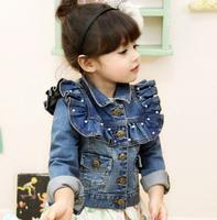 ZLI Kids Toddlers Girls Long Sleeve Blue Short Jean Coats Jackets AGE2 8years LX