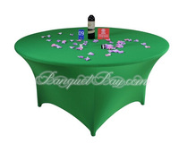 """Green Color Spandex Table Cover 72"""" Round"""