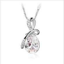 X192 David jewelry wholesale Blue fashion angel tears design pendant female necklace peacock jewelry crystal pendant