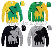 Free shipping kids boy girls long sleeve t shirt Sweater weird Elephant pattern children fleeces boy t shirt clothes(China (Mainland))