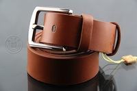Length 110cm men fahsion belts Leather Belts black/brown/coffee color option pin buckle men's Leather wholesale&retail men belts