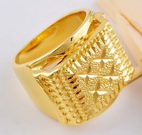 Free Shipping Popular Promotion Plus Size 9,10 ,11 cool 14K  Real GOLD GP PLATED Ring Trending Jewelry 2013 for men Party BJR250