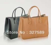 2013 Hotsale Simple Elegant Faux PU Leather Women Tote Handbags Wholesale And Dropship Service