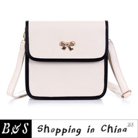 Free shipping  2013 female bags black and white bow bag women's handbag small bag one shoulder cross-body
