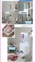 Automatic Toothpaste Dispenser Brush Holder Family set Bathroom Wall Mount Rack