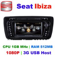 2din Autoradios Seat Ibiza with Cortex A8 chipset/CPU 1GB MHz/RAM 512MB/ 3G USB Host/ free IGO map