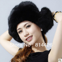 Free Shipping 2013 New Winter Cute Rabbit Fur Hat Ear Warm Hat Thicker,For Women,Elegant Soft Warm,Fashion 4 Colors A1829