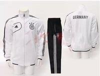 hot sale best quality germany white football outerwear/coat & trousers uniform, soccer jacket & pants,sportswear tracksuit
