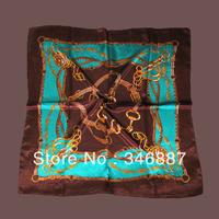 Fashion elegant satin faux silk scarf cape Women all-match sunsreen bandanas